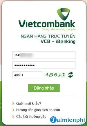 cach su dung internet banking vietcombank doi ma pin 2