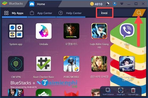 cach su dung kwai tren pc bang bluestacks 2