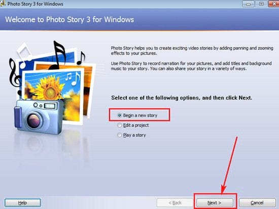 cach su dung photo story 3 for windows 2