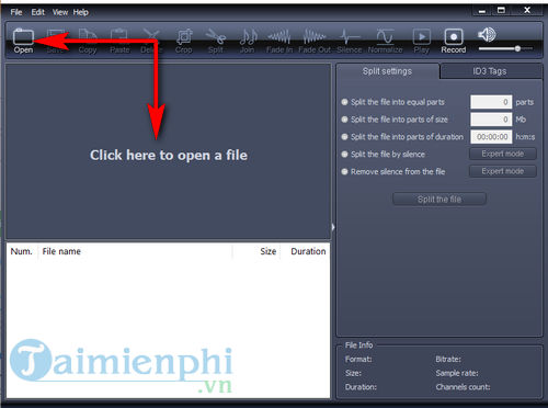 cach su dung x wave mp3 cutter joiner 2