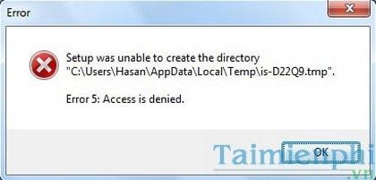sua loi access denied khi truy cap file, thu muc tren windows