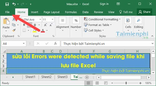 cach sua loi errors were detected while saving file khi luu file excel 2