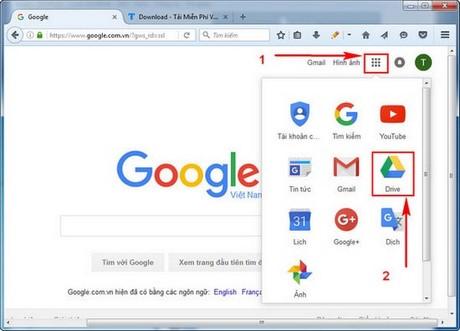 cach tai file len google drive