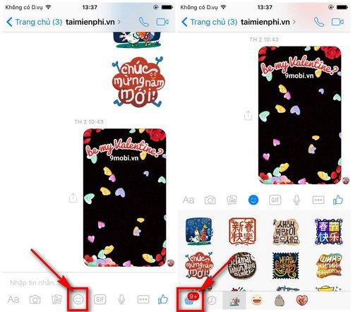 Cách tải sticker chim màu tím trên Facebook và Messenger