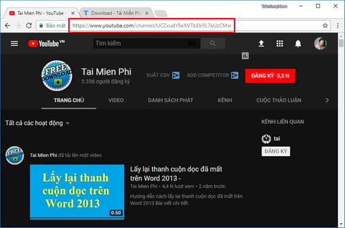 cach tai toan bo video tren kenh youtube 2
