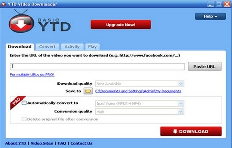 download video bang YTD Video Downloader