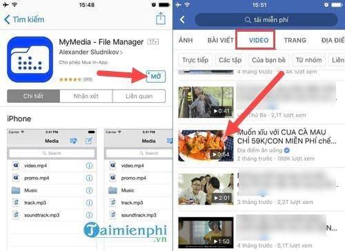 cach tai video facebook tren dien thoai iphone ipad 2