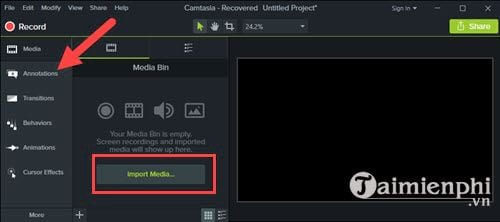 How to create a vegetarian program for video with camtasia studio 2