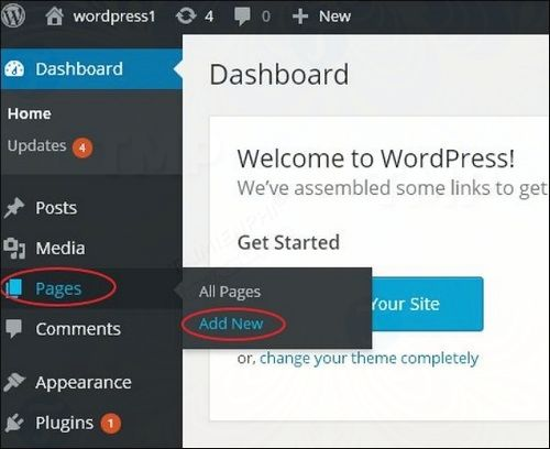 cach tao page trong wordpress 2