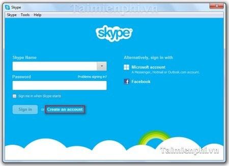 tao tai khoan Skype