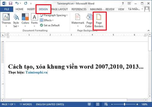 cach tao xoa khung vien word 2007 2010 2013 2