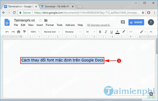 cach thay doi font mac dinh tren google docs 2