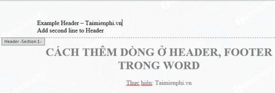 cach them dong o header footer trong word 2
