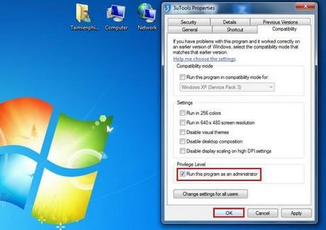 thiet lap mac dinh mo file bang quyen admin