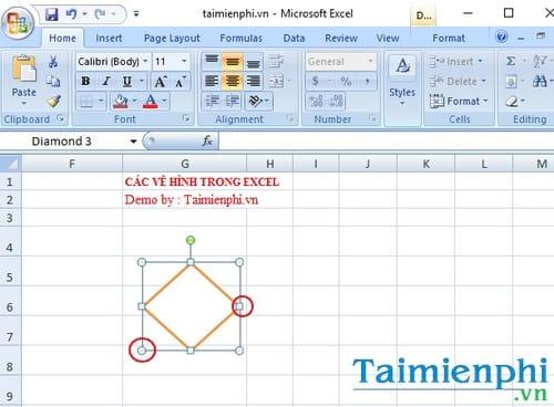 Cách vẽ hình trong Excel 1