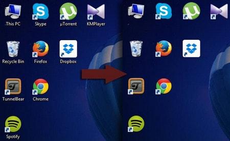 Cách xóa bỏ tên Shortcut trên desktop