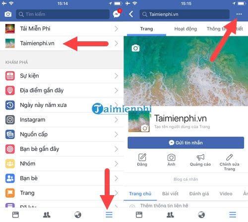 cach xoa fanpage facebook tren dien thoai 2