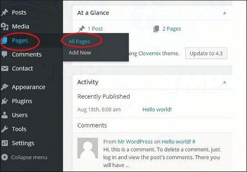 cach xoa link trong wordpress 2