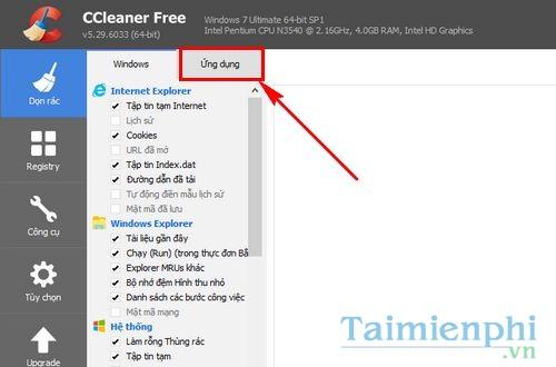 cach xoa nhanh lich su duyet web tren chrome firefox edge ie bang ccleaner 2