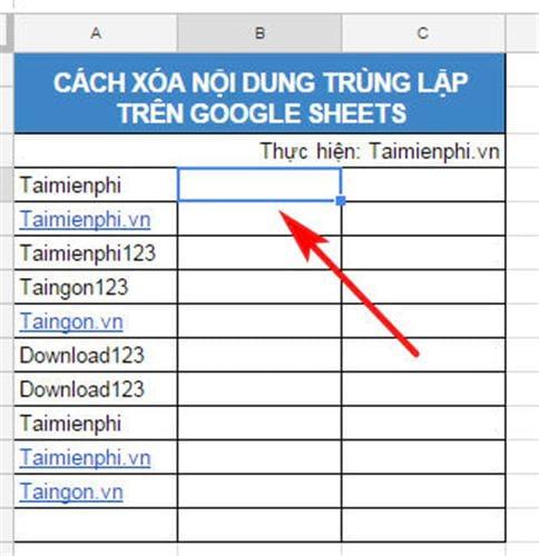 cach xoa trung lap tren google sheets noi dung du lieu duplicates 2