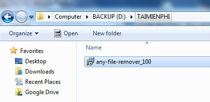 Cach cai Any File Remover