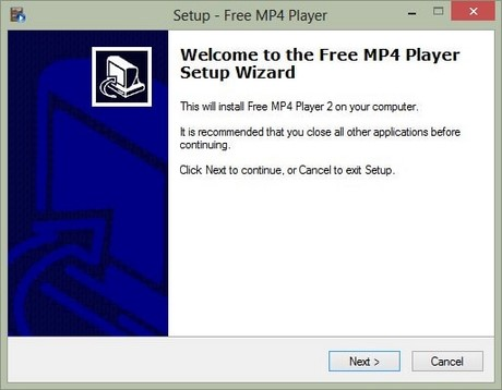 Install and use Free MP4 Player