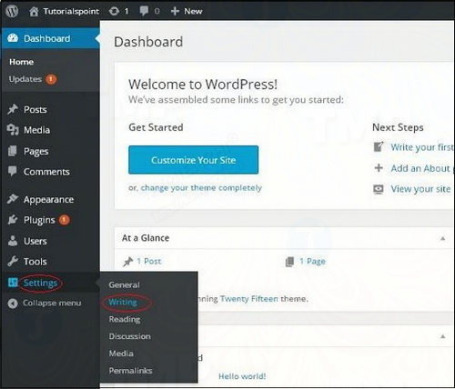 cai dat writing trong wordpress 2