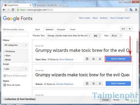 cai font google cho pc