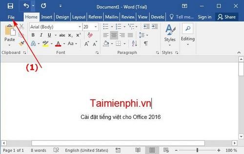 cai tieng viet cho office 2016