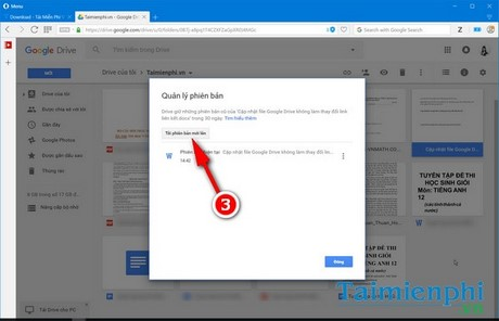 cap nhat google drive khong thay doi link