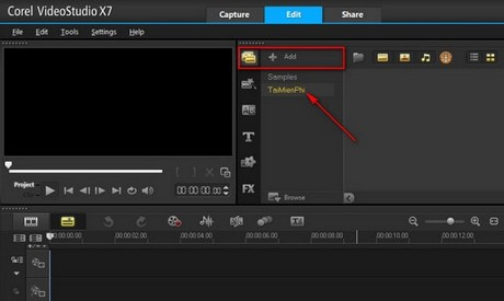 ghep video bang corel videostudio