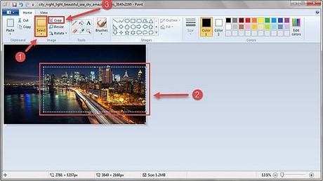 Cắt, giảm dung lượng ảnh bằng Paint trong Win 7 8 XP