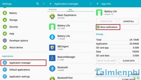 chan quang cao tren android, samsung