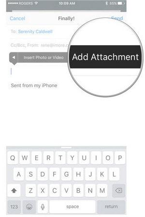 Chèn file vào mail trên iPhone, iPad