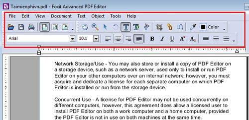 huong dan chinh sua file pdf voi foxit pdf editor
