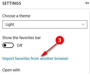 Chuyển bookmark, sao lưu, nhập bookmark từ Chrome, IE sang Microsoft Edge