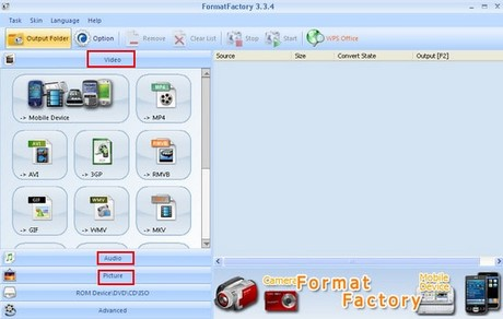 Format Factory chuyen doi file exe