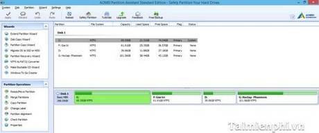Download Aomei Partition Assistant Standard Edition
