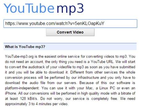 chuyen doi truc tuyen video youtube sang mp3