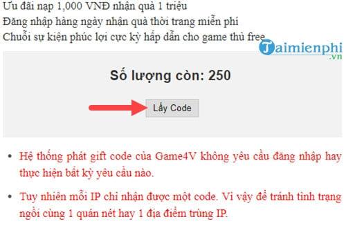 code kiem vuong chi mong moi nhat 2