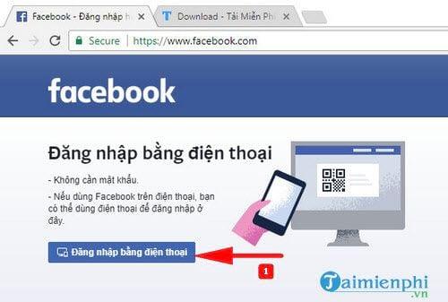 Cách đăng nhập Facebook trên máy tính bằng mã QR code