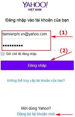 Yahoo com vn login