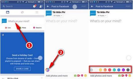 doi phong nen status tren facebook