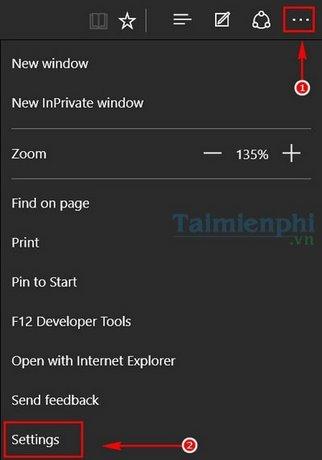 Tạo Bookmark trên Microsoft Edge