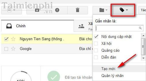gan nhan cho thu trong gmail