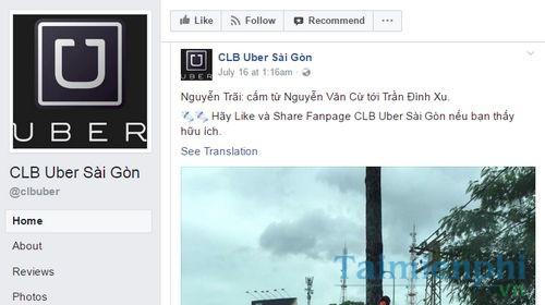 danh sach nhom uber tren facebook taxi uber xe om 2