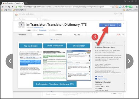 Dịch trang web từ tiếng Anh sang tiếng Việt trên Torch Browser