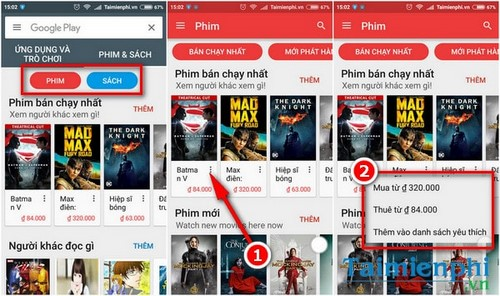 google play movies da co mat tai viet nam
