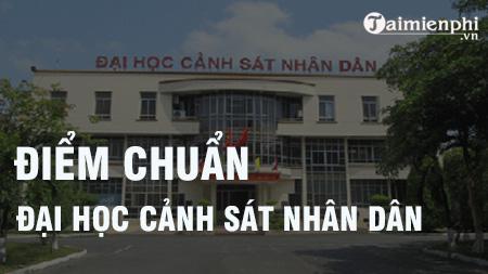 diem chuan dai hoc canh sat nhan dan