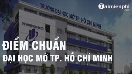 Điểm chuẩn Đại học Mở TPHCM 2020